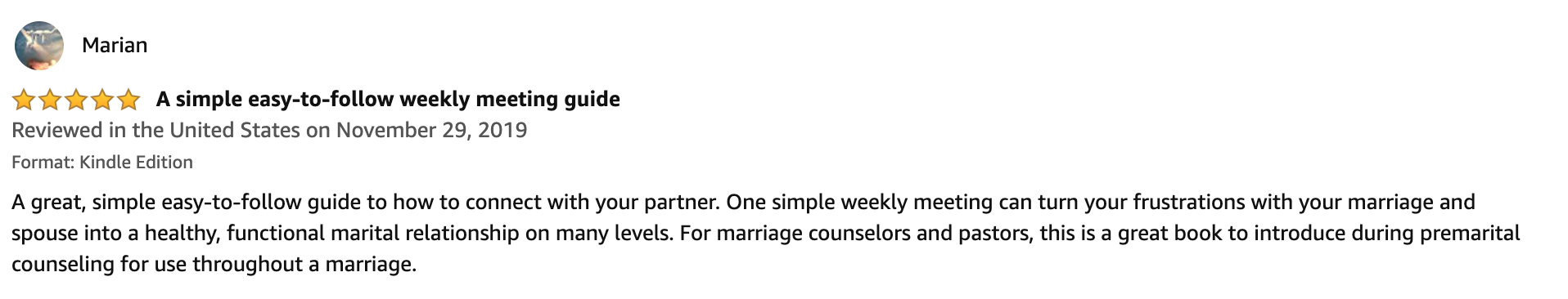 Marriage Meeting review